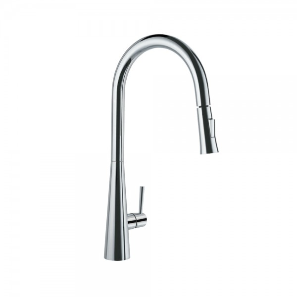 FLO2 Single Lever Pulldown Conical Sink Mixer