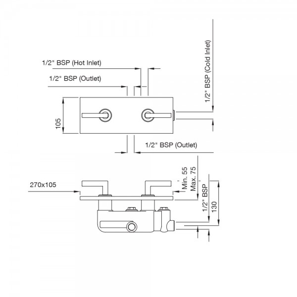 In-wall Diverter for Bath and Shower
