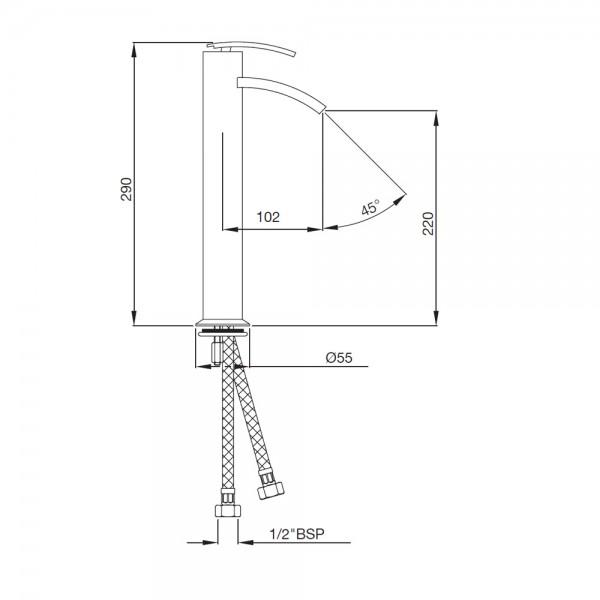 Single Lever High Neck Basin Mixer