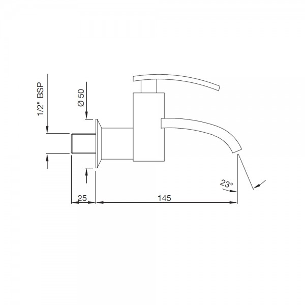 Bib Tap With Wall Flange