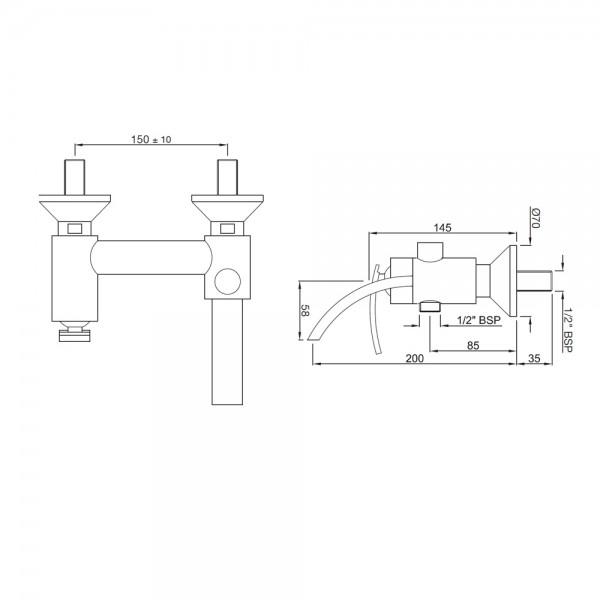 Single Lever Bath & Shower Mixer