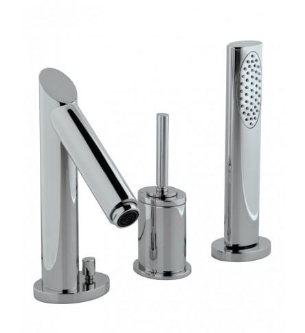 Joystick 3-Hole Bath & Shower Mixer