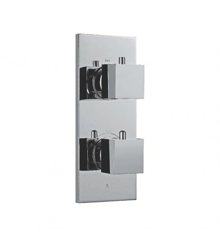 In-wall thermostatic Shower valve with 2-way divertor
