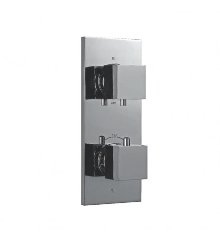 In-Wall thermostatic Shower Valve With 3-Way Divertor
